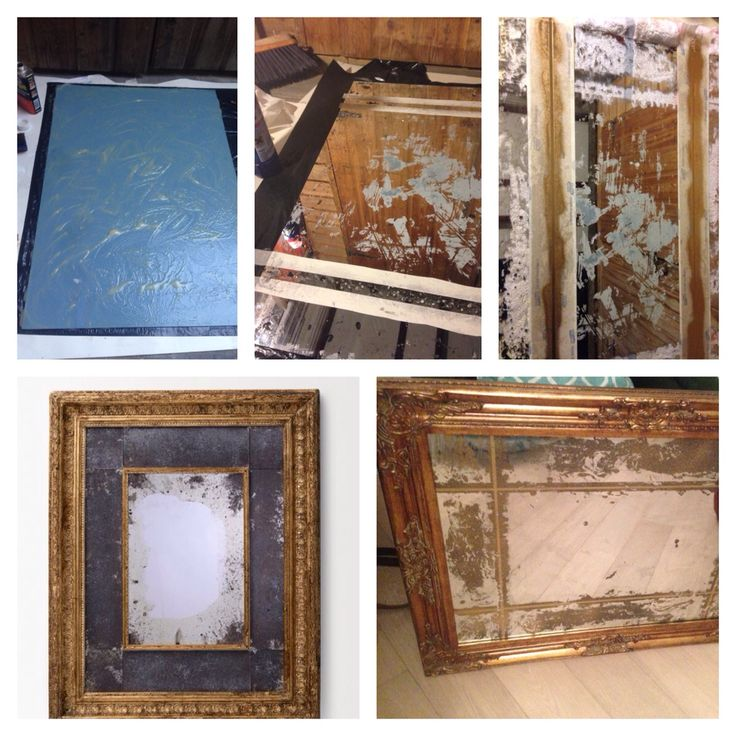 Antiquing mirrors - part II  Inspired by £600 mirror at Anthro (bottom left) Cost £40 - £25 mirror from Matalan Paint stripper, then bleach