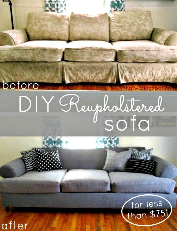 Diy Couch Reupholster With A Painter S