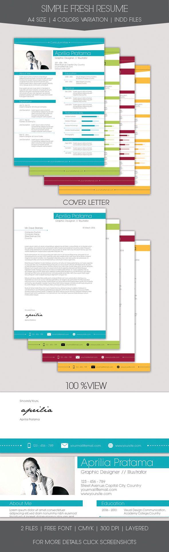 Mejores 32 imágenes de CV diseño en Pinterest   Plantillas de ...
