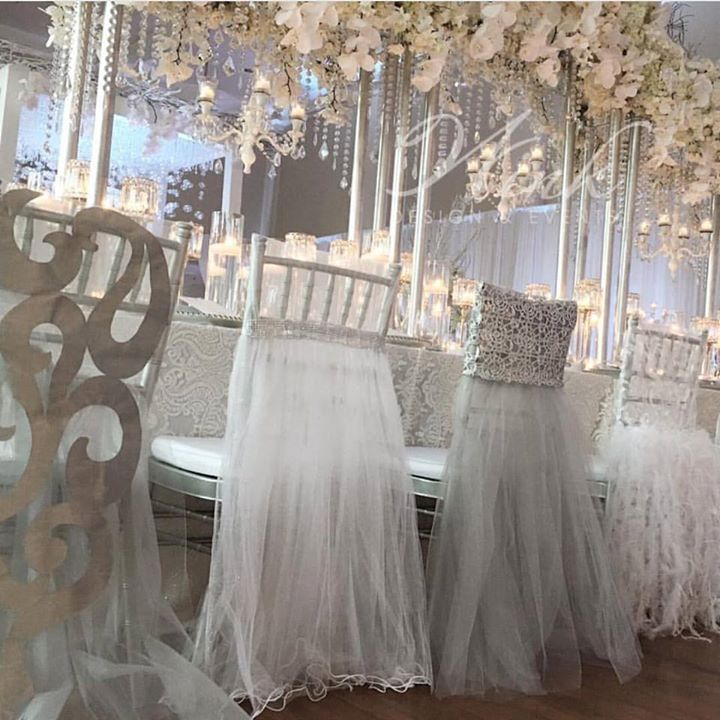 Instant Glamour   Chair Covers With Tulle, Feathers Or Lace ~ Wildflower  Linen Images