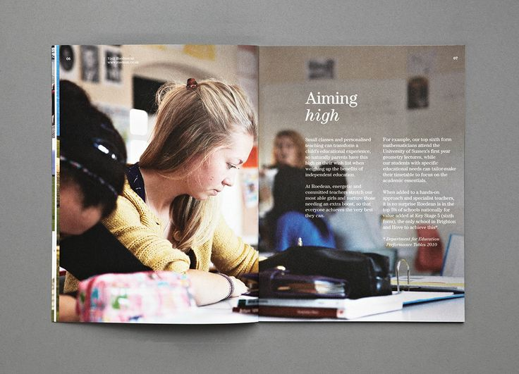 Roedean School Prospectus 2011- Aiming high- Carr Kamasa Design - London