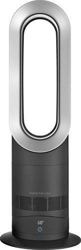 Dyson - AM09 Fan + Heater - Black/Silver - Larger Front