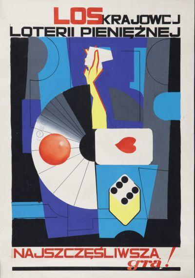 * Projet d'Affiche Loterie Nationale polonaise - Tadeusz Gronowski (1894-1990)