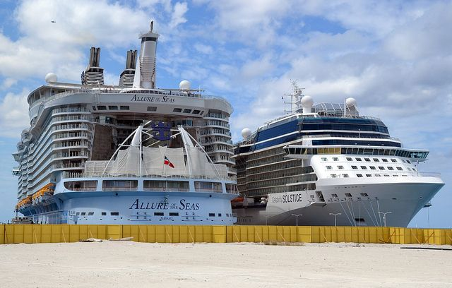Allure of the Seas and Celebrity Solstice     This is what has happened