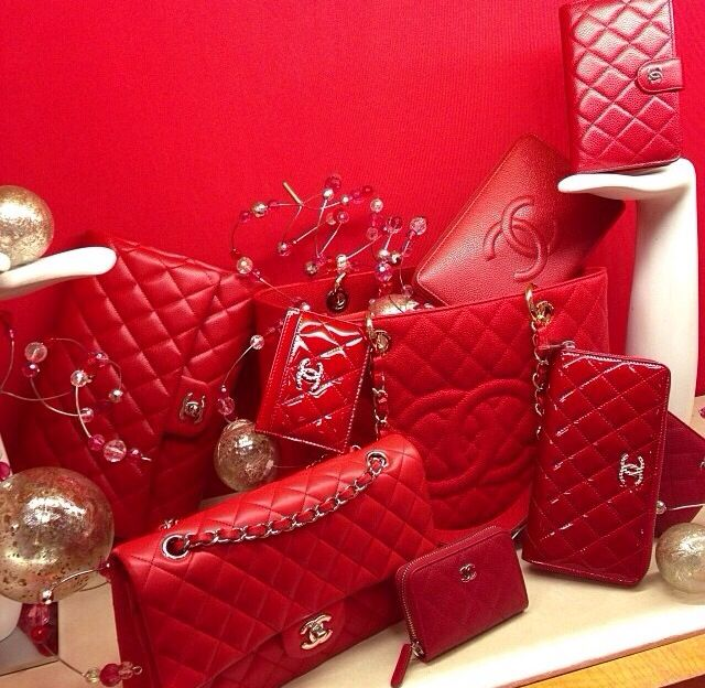 Chanel handbag love all in red red red!!!!!