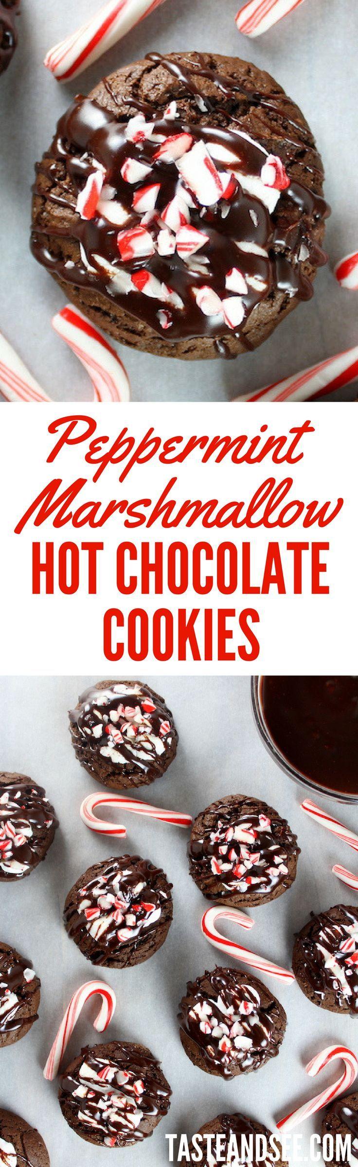 페퍼민트 마시멜로 핫 초콜릿 쿠키
