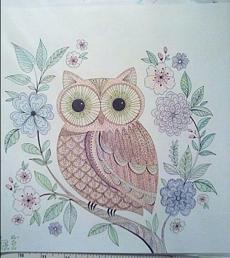 Joyous Blooms To Color Eleri Fowler Adult Coloring Owl Pointillism