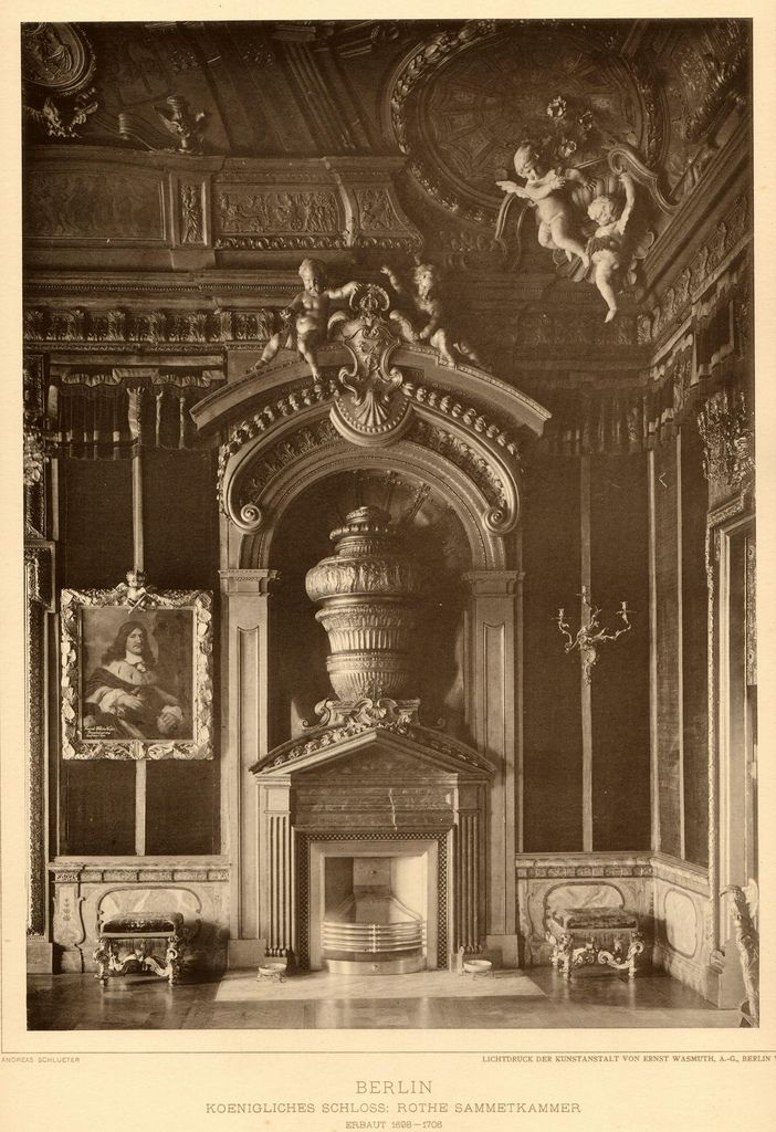 Berlin 1889 Stadtschloss-Rothe Sammetkammer