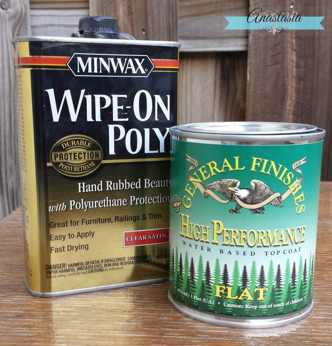 General Finishes High Performance Topcoat Minwax Wipe On