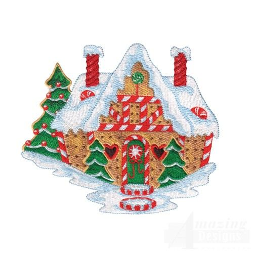 Etsy Machine Embroidery Designs Gingerbread House