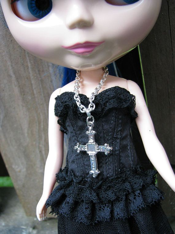 Cross Fashion Doll Necklace for Blythe Monster High by finasma.