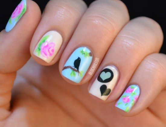 diseños de uñas de flores - Buscar con Google