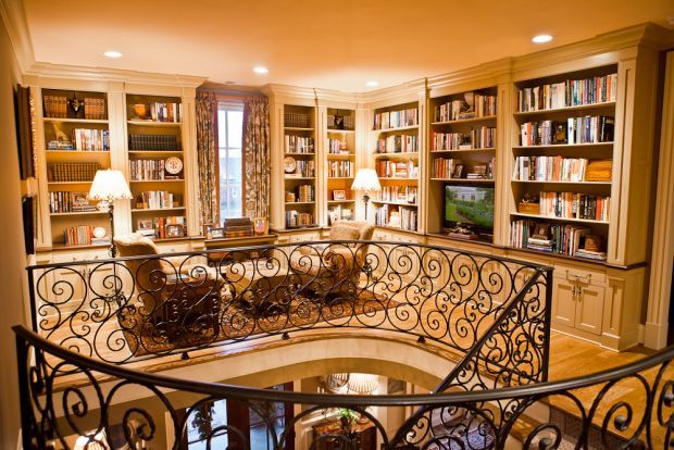 Dream!!! Library on upper landing. Gorgeous.