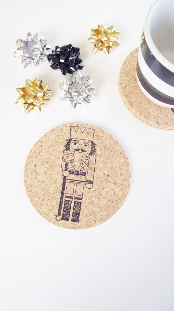 Noël casse-noisette Ballet vacances sous-verres - Set de 6 sous-verres de décoration de Noël classique - Stocking Stuffer cadeau pour femmes