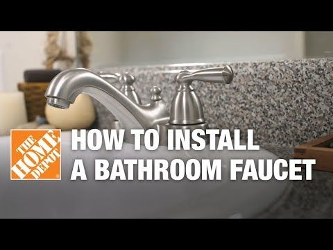 How To Install Or Replace A Bathroom Sink Faucet Youtube Bathroom Faucets Sink Faucets Bathroom Sink Faucets