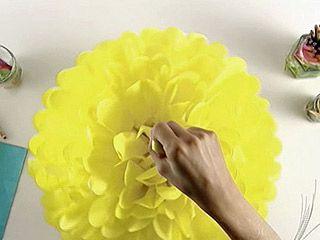 y artesanas pompones de papel