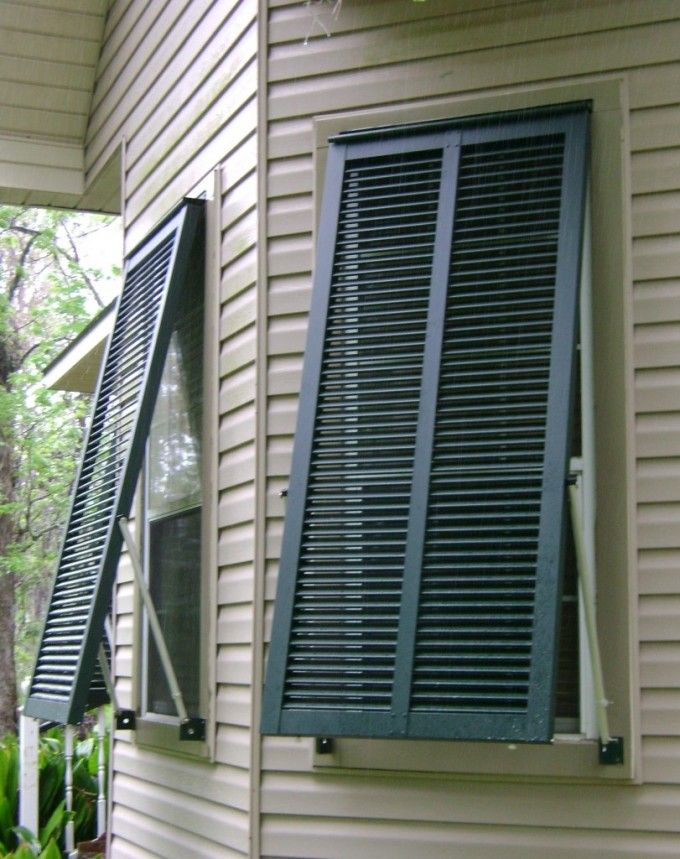Bahama Shutters Wood Shutters Exterior Lowes