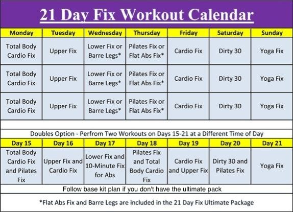 This is the workout calender for the 21 day fix. Everything is layed out for you already. You just have to show up and do your best!!  bbcoachscotty@icloud.com for my future 21day fix weight loss support groups & weekly prizes are drawn for fun too. Let's get in the best shape of your life!!!! Coach Scotty