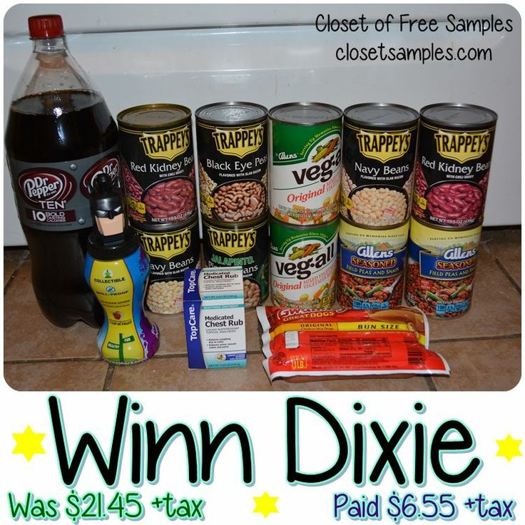 Winn dixie shopping trip 1 23 paid 6 for 21 worth of stuff