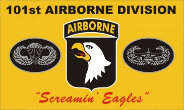 Yellow Screaming Eagles Flag 3' x 5' - Fort Campbell Historical Foundation