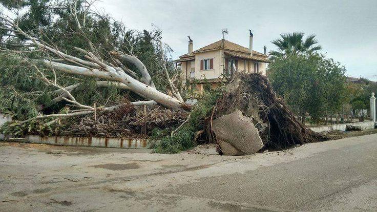 NOVEMBER 11th 2017 tornado hit CORFU ISLAND