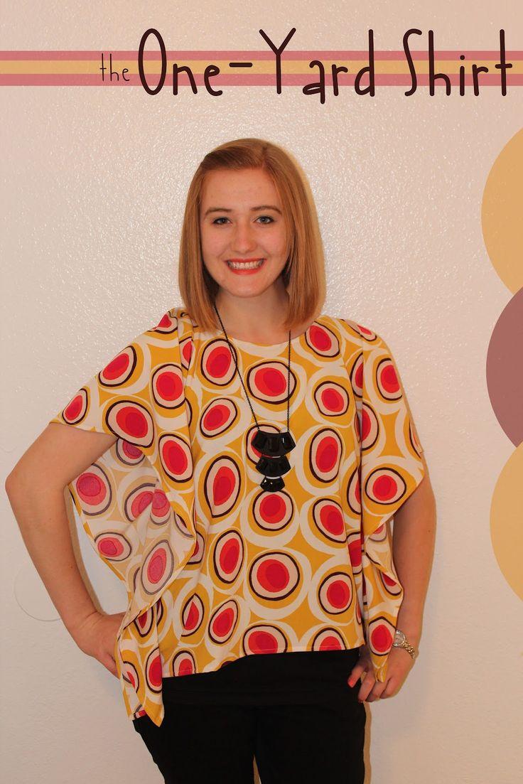 use one yard of fabric to make a cute shirt!