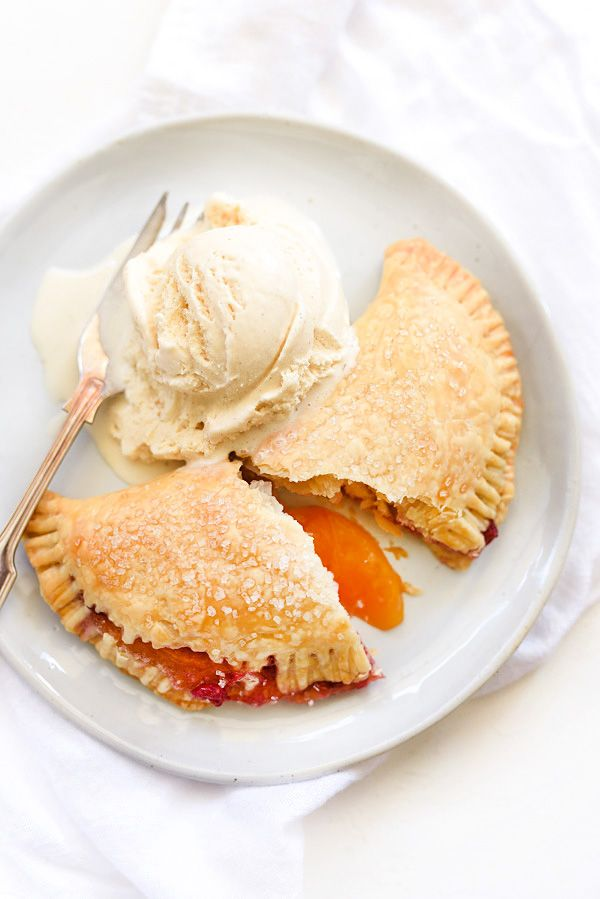Raspberry Peach Hand Pies   foodiecrush.com