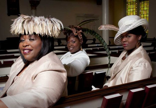 black women church hats