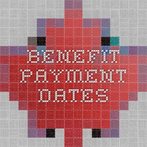Benefit payment dates