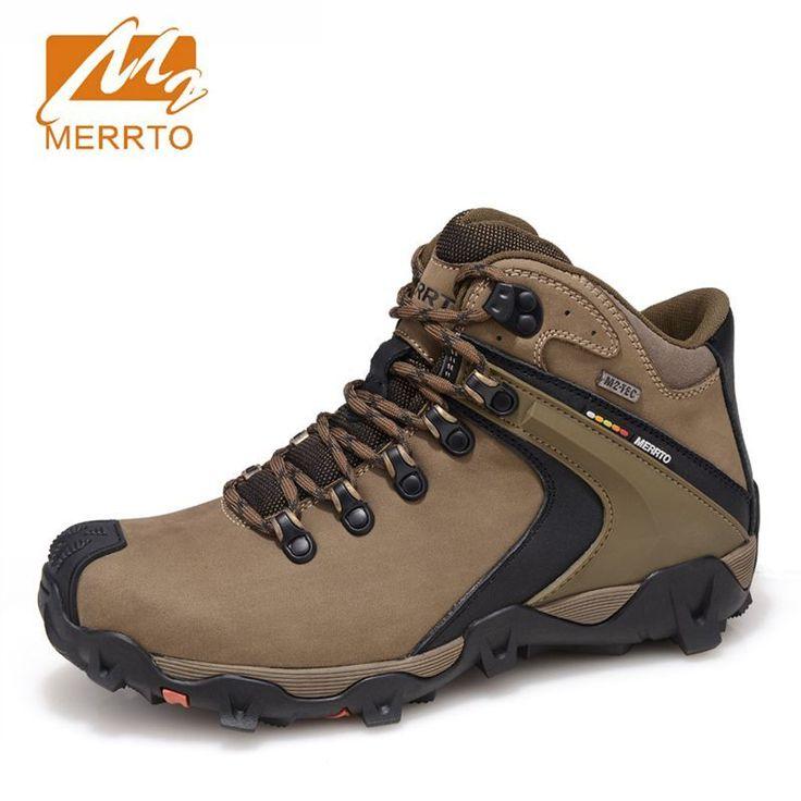 MERRTO Waterproof Hiking Shoes For Men Sneakers Men Hiking Waterproof Boots Trekking Outdoor Shoes Full-grain Leather Boots Man #Affiliate