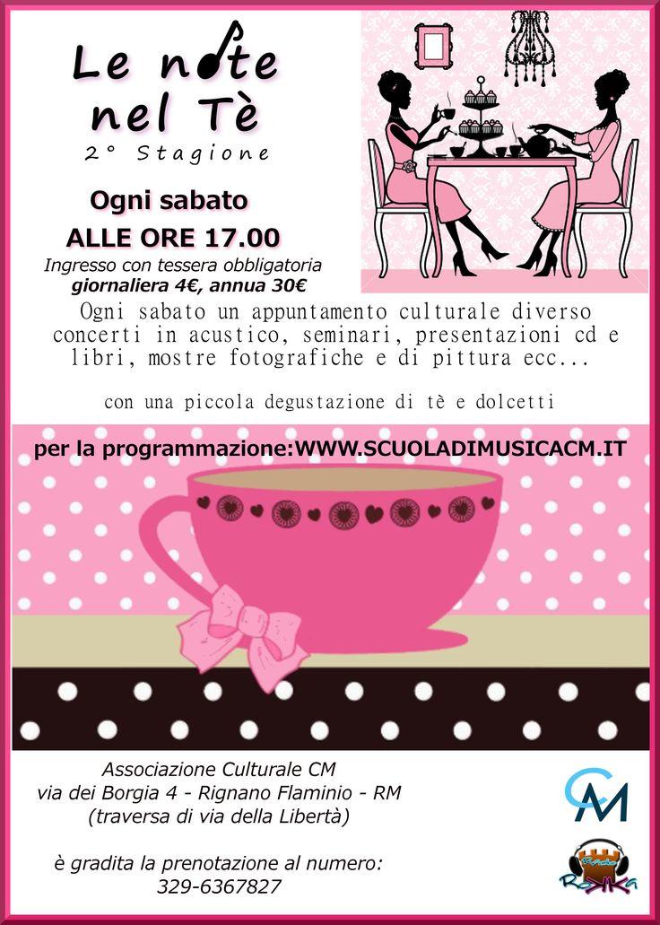 Le note nel tè - stagione culturale - 2° edizione www.lenotenlete.jimdo.com