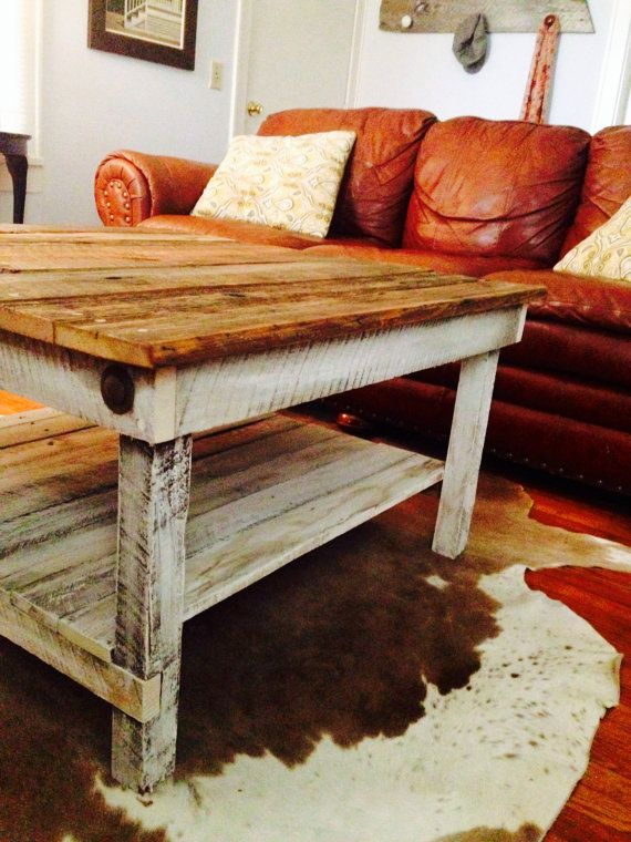 Barnwood Coffee Table Kristine Collection by ReBarnCHF on Etsy