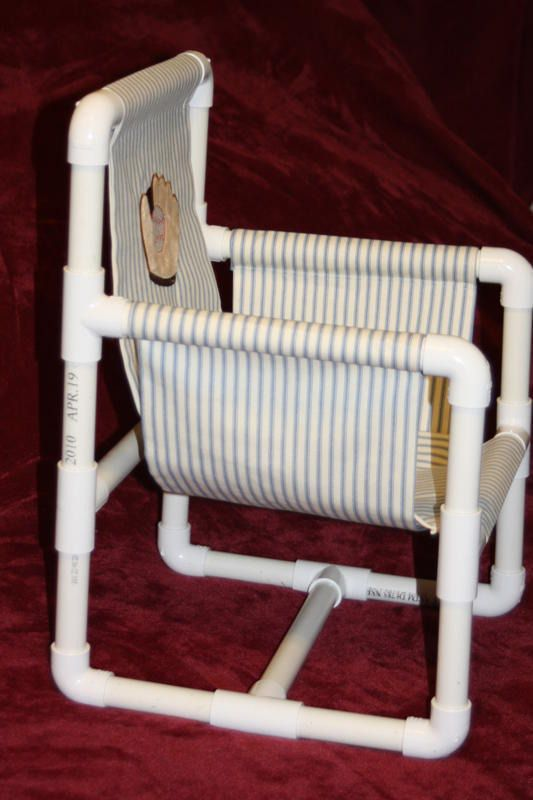 Child s pvc pipe chair pattern for Pvc pipe craft projects