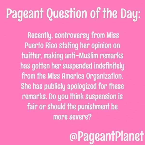 Pageant Question About Miss Puerto Rico America Controversy