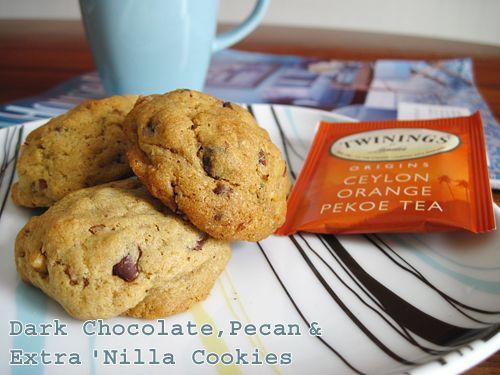 Dark Chocolate, Pecan & Extra 'Nilla Cookies