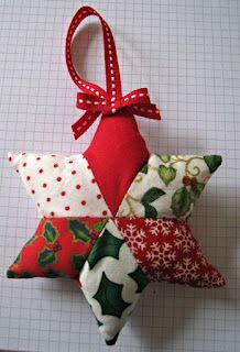 Estrellas en patchwork para decorar nuestro arbolito de Navidad!