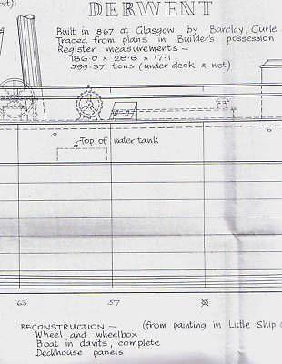 DERWENT SAIL SHIP Model Boat Plans 3 large prints by  MacGregor