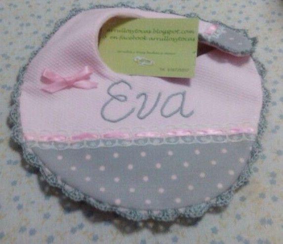 pechito gris y rosa personalizado