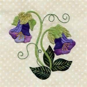 25 different wild flower quilt.  blocks - Cup and saucer vine