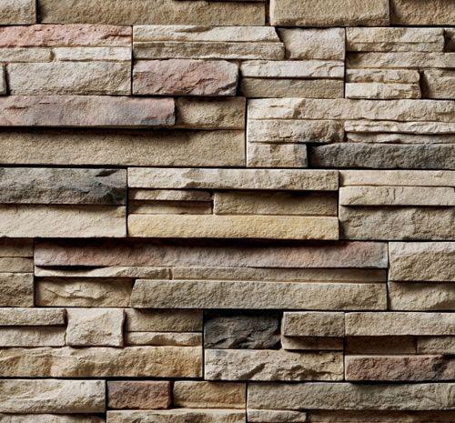 Owens Corning Cultured Stone Dry Stack | Cultured Stone Pro-Fit Alpine Ledgestone Chardonnay Stone Veneer 1