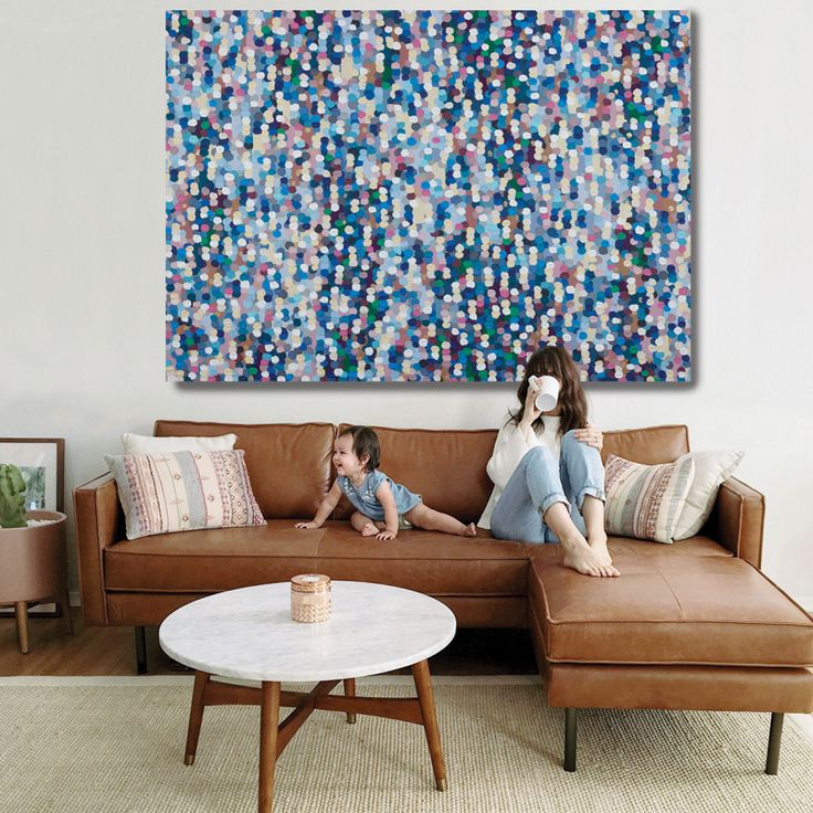 Confetti Rain | 2A0 Limited Edition | Unstretched Canvas Print | The Block Shop