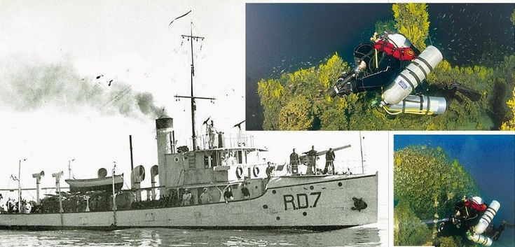 FOUND! The Italian minesweeper RD7 sunk in 1942