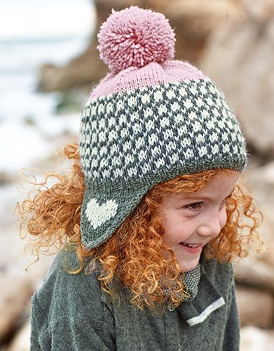 Book Kids 79 Autumn / Winter | 11: Kids Cap | Light pink / Medium grey