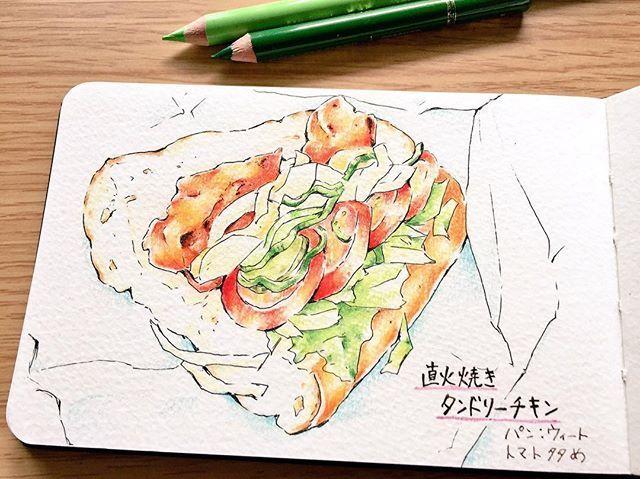 softmen0125 8月31日は野菜の日だそうです! 体にいい気がして、サブウェイではいつもトマト多め、ウィートパン(小麦胚芽入り)で頼んでます。 . . . #サブウェイ #subway #831の日 #野菜の日 #サンドイッチ #タンドリーチキン #モレスキン #moleskine #moleskinejp #スケッチ #色鉛筆 #coloredpencil2017/08/31 19:36:30