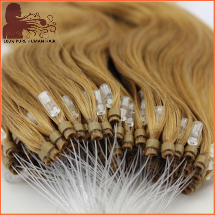 Factory OEM 10 to 30 inch high quality double drawn 100% human hair Micro loop hair extensions