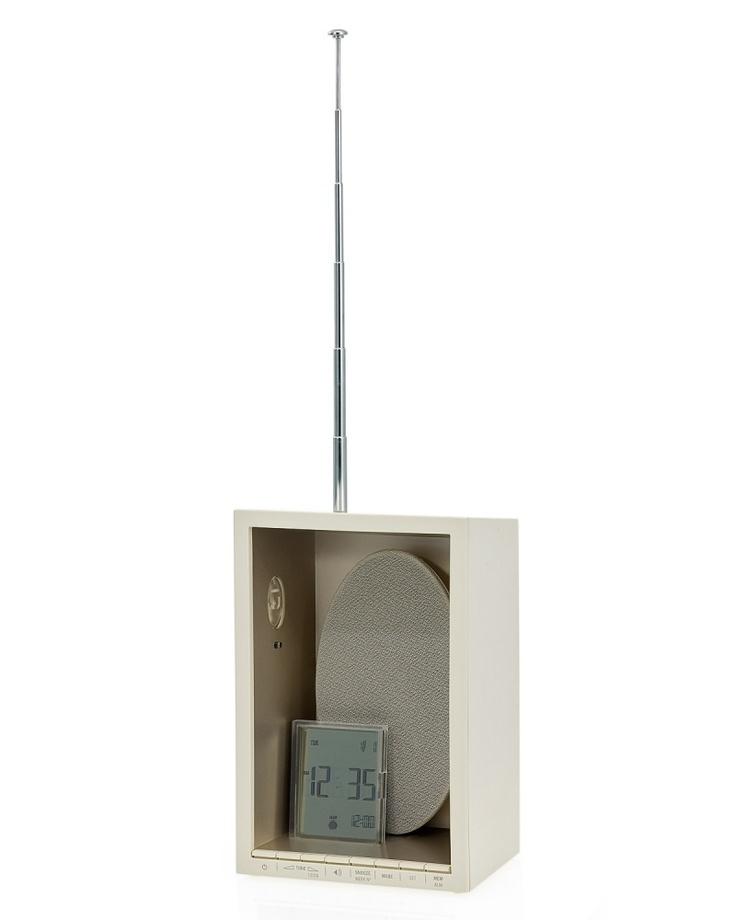 "LEXON   ""D.I. Vox"" clock radio   designed by Patrick Jouin"