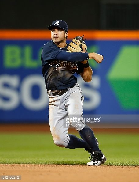 News Photo : Chase d'Arnaud of the Atlanta Braves in action...