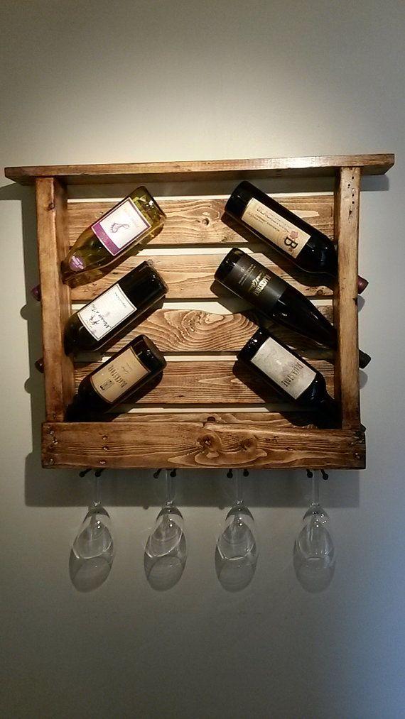 Les 25 meilleures id es concernant casiers bouteilles rustiques sur pinterest tag res - Porte bouteille palette ...