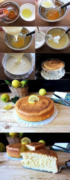 Bizcocho de limón y leche condensada http://unapinceladaenlacocina.blogspot.com.es/