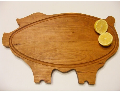 Big ol' Piggy Cutting/Serving board. Everyone needs a little whimsy in the kitchen!